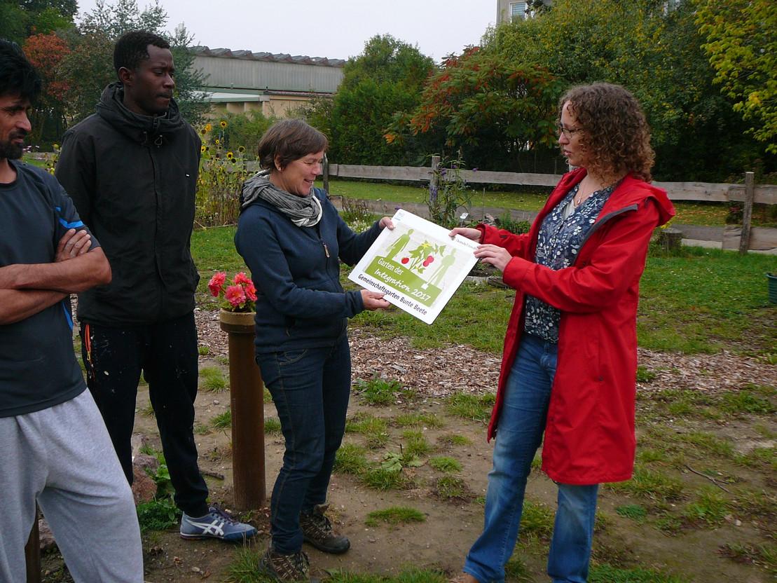 Auszeichnung vom Garten der Integration in Halle