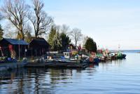 Fischereihafen auf deutscher Seite des Stettiner Haffs