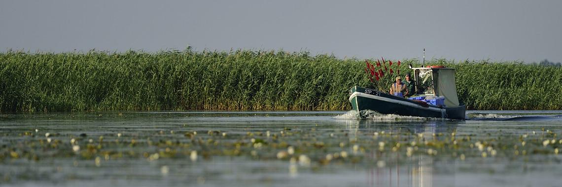 Fischer auf polnischer Seite des Settiner Haffs